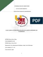 Intervención en un paciente enfermo de parkinson