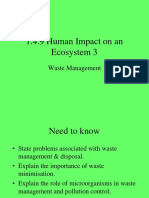human impact on ecosystem