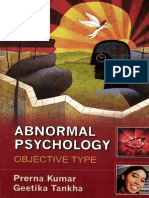 Abnormal Psychology Objective Type