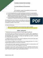 CFAP General Exam Guidance