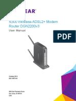 Netgear N300 Wireless ADSL2+ Modem Router DGN2200v3 User Manual