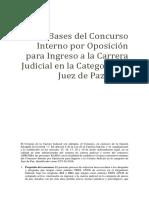 bases para concurso jueces de paz