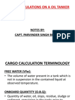 Cargo calculation terms