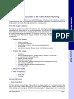 Textiles (Spinning), Rating Methodology, Jan 2018