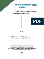 Tugas 1.4. Praktik LKPD - Perbandingan Trigonometri