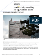 Singtel Enters Electricity Reselling Biz in Tie-up, Will Sell Plans Thu Singtel Power - ST