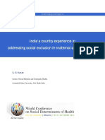 India's country experience in addressing social exclusion in maternal and child health