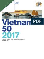Vietnam Top 50 Brands - 2017