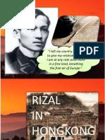 Rizal's Life in Hongkong, Japan, America