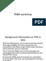 PABX workshop