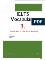 Ielts Vocabulary 3 Study Work Education
