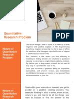 Quantitative Research Problem