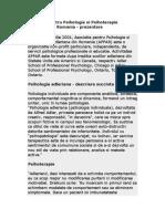 2.Asociatia Pentru Psihologie Si pie Adleriana Din Romania