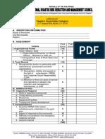 People's Organization Checklist