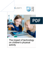 The Impact of Technology on Children s Physical Activity