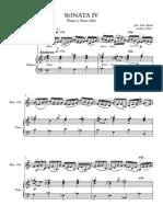 Sonata IV Bach SIN Transposicion