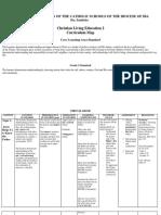 Curriculum map in CL