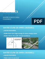 7. Water Flow in Open Channels