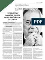 G060212 Entrevista a Vargas Llosa, Mis Novelas Mienten Con Conocimiento de Causa