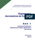 RAC 1 - Definiciones