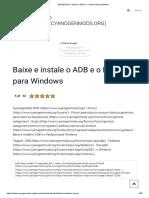 [GUIA] Baixe e Instale o ADB e o Fastboot Para Windows