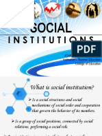 Lesson1 Social Institutions