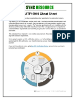 6 Iatf 16949 Certification Cheat Sheet