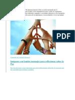 Dia Internacional de La Paz - Para Combinar
