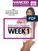 Advanced Gym Beach Body Week 1