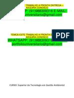 Gestão Ambiental 2 Semestre Temos a Pronta Entrega Whatsapp 91988309316