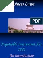 D - Negotiable Instrument-