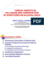 Geotechnical Aspects in the Design and Construction of Structures on Alluvial Soils