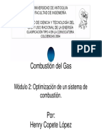 Optimizacion de Un Sistema de Combustion
