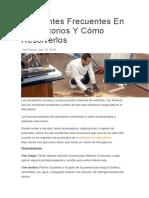 Accidentes Frecuentes en Laboratorios Y Cómo Resolverlos