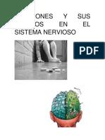 adicciones y  efecyos en el sistema newrvioso