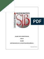 Silabo Metodología de La Investigación Medica i 2016-II (1)-1