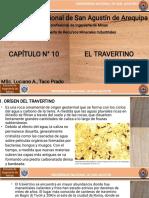 CAPÍTULO N° 10 - EL TRAVERTINO