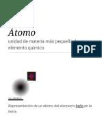 Átomo - Wikipedia, La Enciclopedia Libre