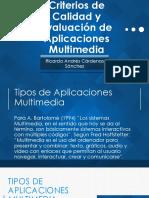Criterios de Calidad y Evaluación de Aplicaciones Multimedia