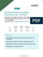 Estimación de Cocientes (Divisores de 2 Cifras)