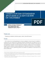 Competencias Ciudadanas y Educación