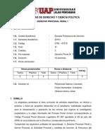 Syllabus procesal penal