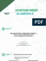 Plataforma de Colaboración de Datos de Agricultura – Servicios y la Arquitectura hacia el siguiente nivel (Cadena Inteligente de Alimentos)