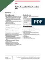 Electronics data sheet