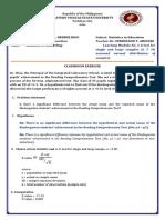 Module Exercises in Master Statistics