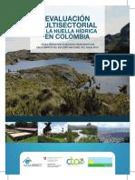 Distribución Espacial de La Proyección de La Huella Hídrica Azul y Verde Caña de Azucar 2022