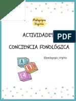 ACTIVIDADES CONCIENCIA FONOLOGICA