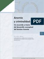 Anomia y criminalidad