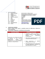 Prog Analitico Fundamentos de Dibujo Tecnico Tarde
