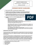 UBS Summer Internship Report Template